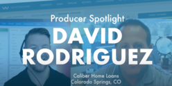 Video of Whiteboard President Kevin Ducey interviewing David Rodriguez of Caliber Home Loans in a producer spotlight